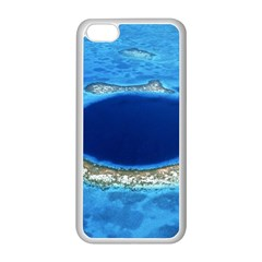 GREAT BLUE HOLE 2 Apple iPhone 5C Seamless Case (White)