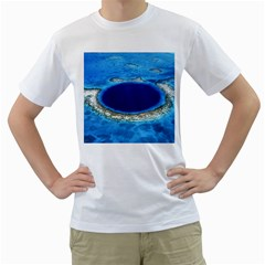 GREAT BLUE HOLE 2 Men s T-Shirt (White)