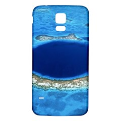GREAT BLUE HOLE 2 Samsung Galaxy S5 Back Case (White)