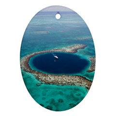 GREAT BLUE HOLE 1 Ornament (Oval)