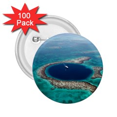 GREAT BLUE HOLE 1 2.25  Buttons (100 pack)