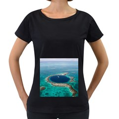 GREAT BLUE HOLE 1 Women s Loose-Fit T-Shirt (Black)