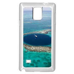 GREAT BLUE HOLE 1 Samsung Galaxy Note 4 Case (White)