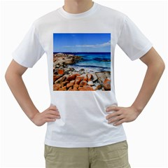 Bay Of Fires Men s T Shirt (white) (two Sided)
