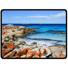 BAY OF FIRES Double Sided Fleece Blanket (Large)