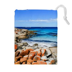 Bay Of Fires Drawstring Pouches (extra Large)