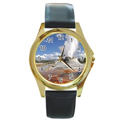 YELLOWSTONE CASTLE Round Gold Metal Watches