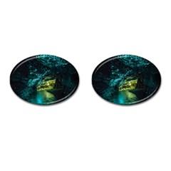 Waitomo Glowworm Cufflinks (oval)