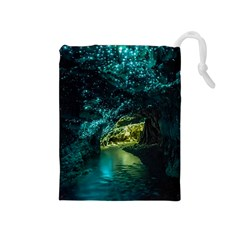 WAITOMO GLOWWORM Drawstring Pouches (Medium)