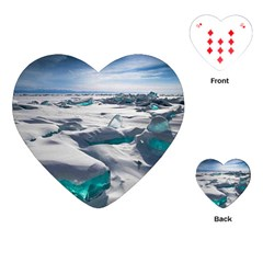 TURQUOISE ICE Playing Cards (Heart)