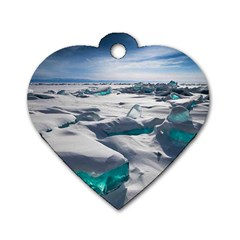 TURQUOISE ICE Dog Tag Heart (Two Sides)