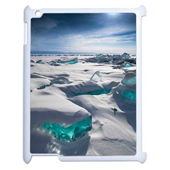 TURQUOISE ICE Apple iPad 2 Case (White)