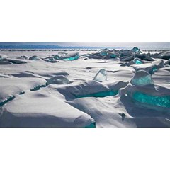 Turquoise Ice You Are Invited 3d Greeting Card (8x4)