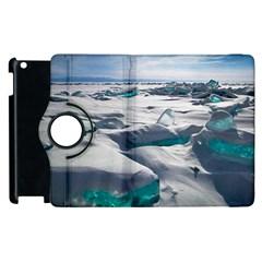 TURQUOISE ICE Apple iPad 2 Flip 360 Case
