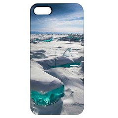 TURQUOISE ICE Apple iPhone 5 Hardshell Case with Stand