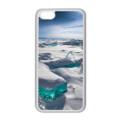 TURQUOISE ICE Apple iPhone 5C Seamless Case (White)