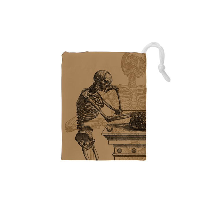 Vintage Skeletons Drawstring Pouches (XS)