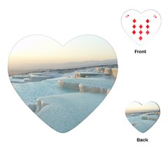 Travertine Pools Playing Cards (heart)
