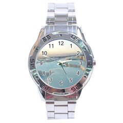 TRAVERTINE POOLS Stainless Steel Men s Watch