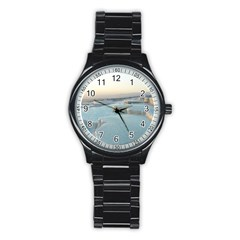 TRAVERTINE POOLS Stainless Steel Round Watches