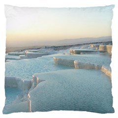 TRAVERTINE POOLS Large Flano Cushion Cases (One Side)