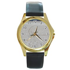 SAILING STONES Round Gold Metal Watches