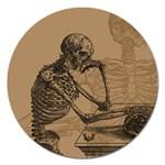 Vintage Skeletons Magnet 5  (Round) Front