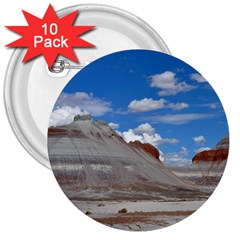 PETRIFIED FORREST TEPEES 3  Buttons (10 pack)
