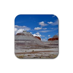PETRIFIED FORREST TEPEES Rubber Square Coaster (4 pack)