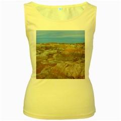 PAINTED DESERT Women s Yellow Tank Tops