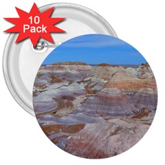 PAINTED DESERT 3  Buttons (10 pack)