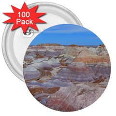 PAINTED DESERT 3  Buttons (100 pack)
