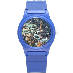 HUANGLONG POOLS Round Plastic Sport Watch (S)