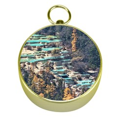HUANGLONG POOLS Gold Compasses