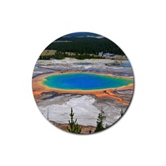 GRAND PRISMATIC Rubber Round Coaster (4 pack)