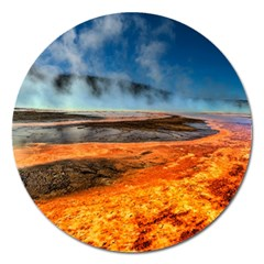 FIRE RIVER Magnet 5  (Round)