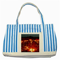 DOOR TO HELL Striped Blue Tote Bag