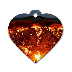DOOR TO HELL Dog Tag Heart (Two Sides)