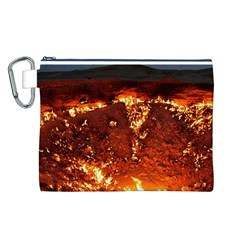 DOOR TO HELL Canvas Cosmetic Bag (L)