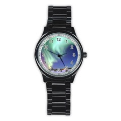 AURORA BOREALIS Stainless Steel Round Watches