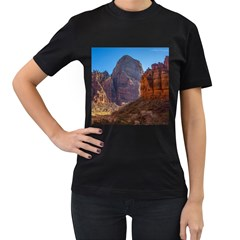 ZION NATIONAL PARK Women s T-Shirt (Black) (Two Sided)