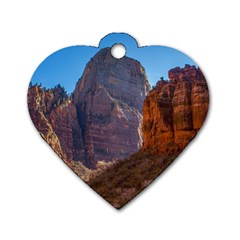 ZION NATIONAL PARK Dog Tag Heart (Two Sides)