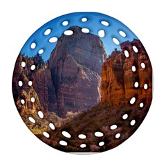 ZION NATIONAL PARK Round Filigree Ornament (2Side)