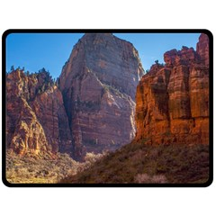 ZION NATIONAL PARK Double Sided Fleece Blanket (Large)
