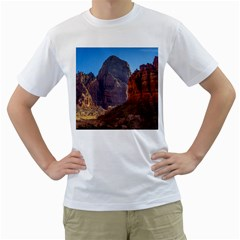 ZION NATIONAL PARK Men s T-Shirt (White)
