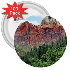 UPPER EMERALD TRAIL 3  Buttons (100 pack)