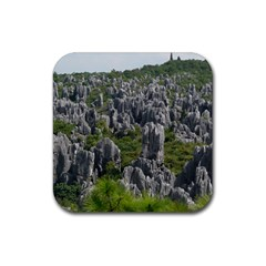 STONE FOREST 1 Rubber Square Coaster (4 pack)