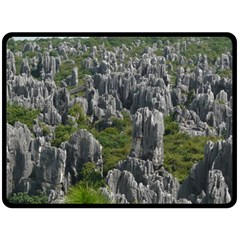 STONE FOREST 1 Double Sided Fleece Blanket (Large)
