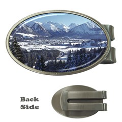 Snowy Mountains Money Clips (oval)