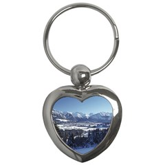 SNOWY MOUNTAINS Key Chains (Heart)